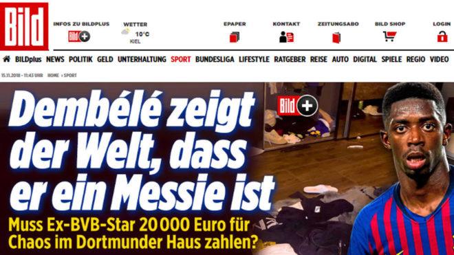 Dembélé sagsøgt af tysk udlejer