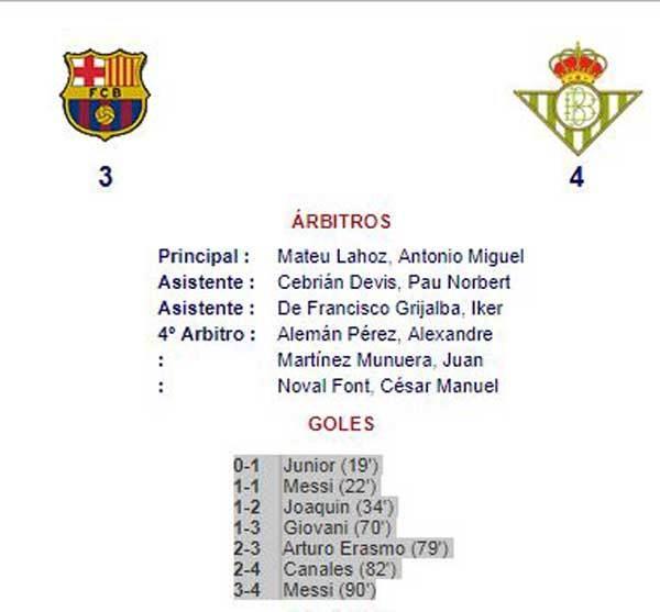 Dommeren noterede fejlagtigt Messi for en udl