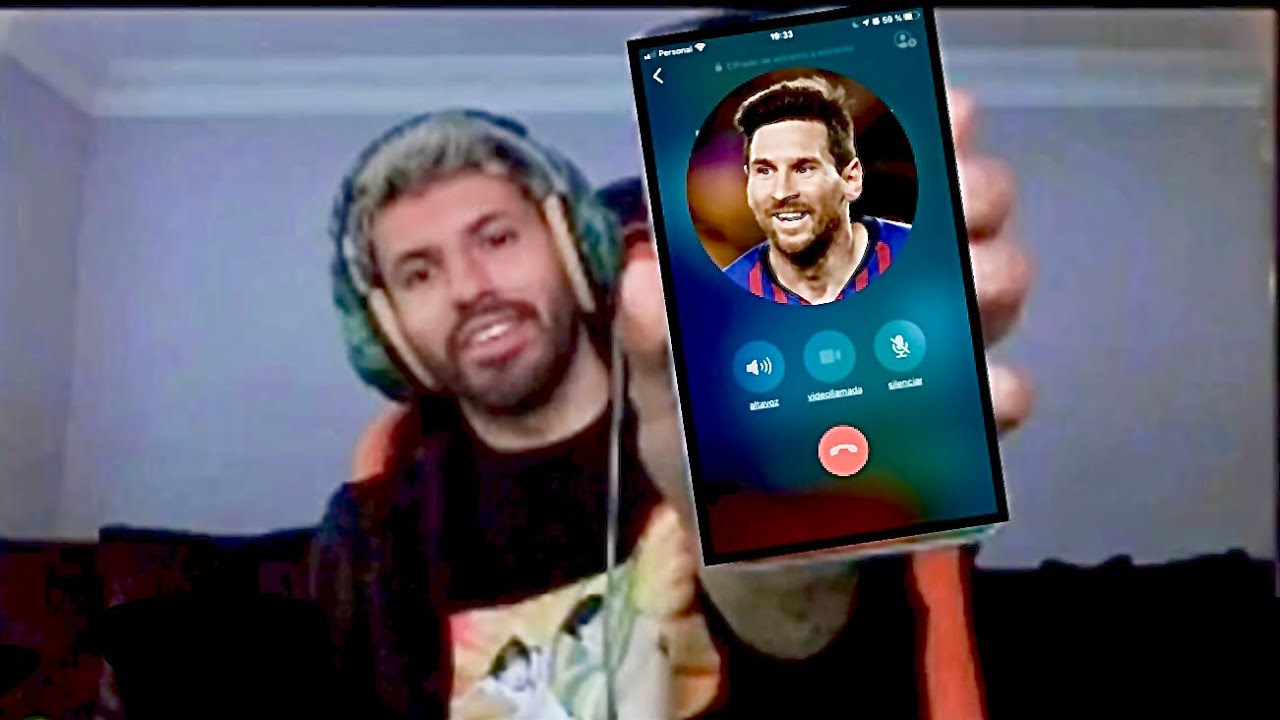 Video: Agüero ringer til Messi på livestream