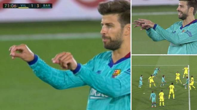 Video: Gerard Piqué imiterer VAR