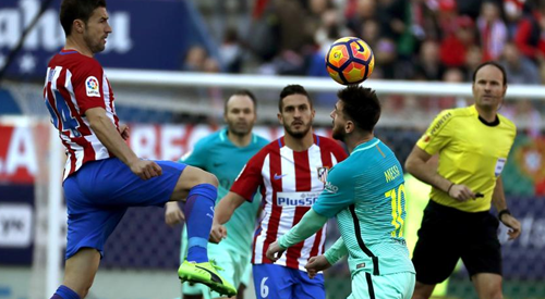Messi sikrede sejren mod Atletico: 1-2