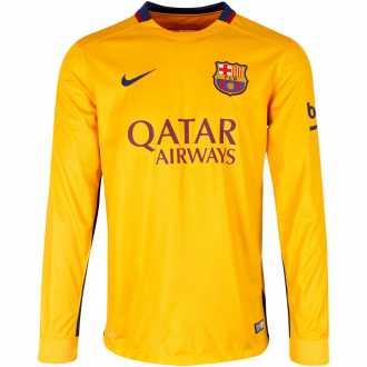 Barcelona Udebanetrøje, langærmet 2015/2016